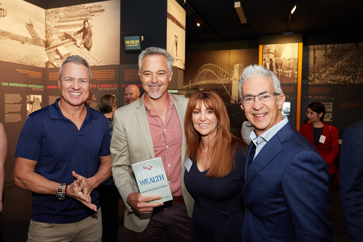 Cameron Daddo, Ed Phillips and Craig Carr with Mental Wealth book