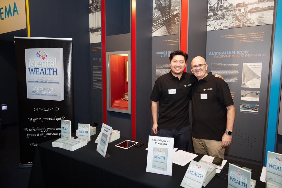 John Shin and Brian Langsworth at the Mental Wealth book stand