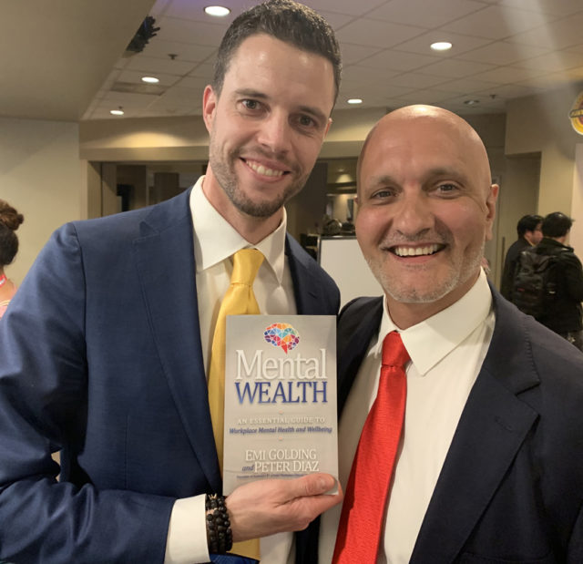 Alexander Keehnen from Nederland with Peter Diaz and the Mental Wealth book