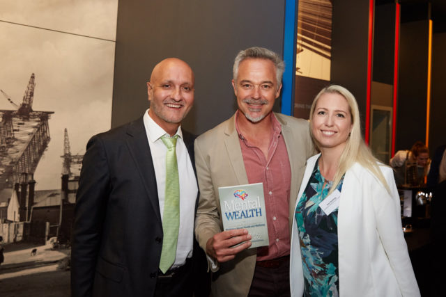 Cameron Daddo - Actor and Producer with Emi, Peter and the Mental Wealth book