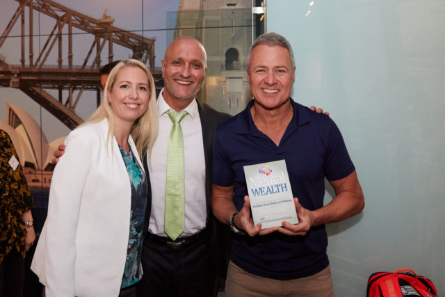 Ed Phillips (TV Presenter) with Emi, Peter and the Mental Wealth book