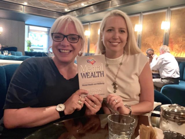 Holly Atkins with Emi Golding and Mental Wealth book