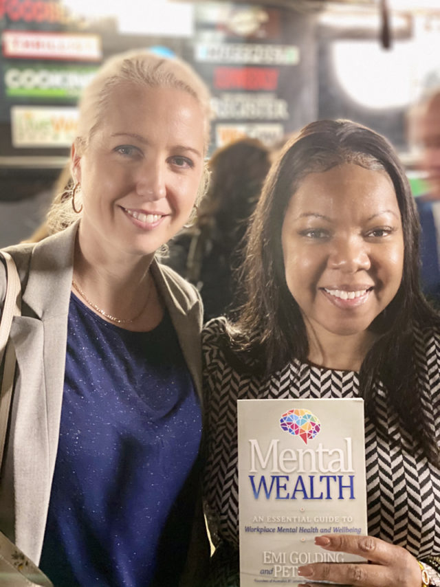 Sabrina Mack from USA with Emi Golding and the Mental Wealth book
