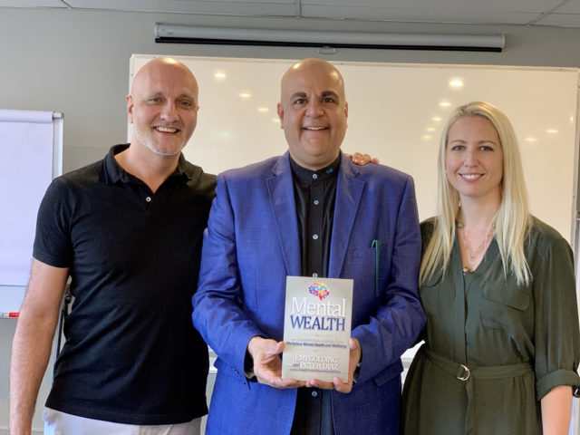 Vikas Malkani's (World's #1 Wisdom Coach) from Singapore with the authors of Mental Wealth book